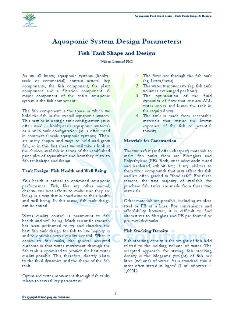 Fish Tank Shape and Design | Aquaponics | Aquarium