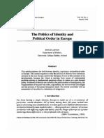 Laffan - 1996 - The Politics of Identity and Political Order in EU