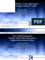 Whitney Tilson May 6, 2014 Berkshire Hathaway Presentation