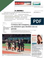Crónica Del Traspaso_ Nadie Rezó y Un Ministro Gay Desfiló Con Su Pareja