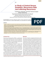 3.Central Serous Chorioretinopathy- Recurrence Rate and Factors Affecting Recurrence