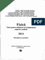 Teste-Fizica Admitere 2014