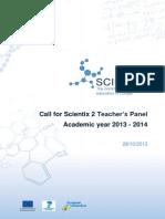 Files.eun.Org Scientix Scx2 Call for Teachers Scx2 WP6 Call for Teachers Y1