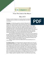 May 2014 Fleischmanns Mayor's Newsletter
