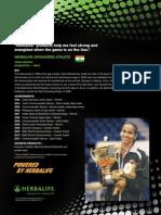 Saina Nehwal Herbalife Athlete Flyer (English)