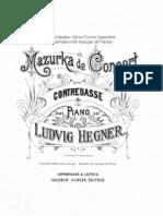Ludvig Hegner - Mazurka de Concert for Double Bass