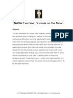 nasa moon survival exercise