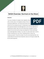 nasa moon survival exercise