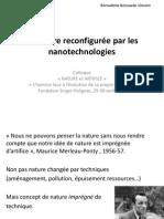 Bernadette BENSAUDE VINCENT - La nature reconfigurée par les nanotechnologies et technologies convergentes
