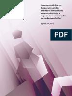CNMV Gobierno Corporativo 2012