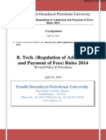 PDPU B.tech Admission 2014 Information Brochure
