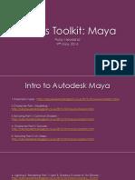 Maya Checklist