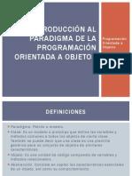 Introduccion Al Paradigma de La POO