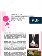 CAPITULO VIII Responsabilidades Admi, Civil y Penal