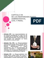 CAPITULO VIII Responsabilidades Admi, Civil y Penal