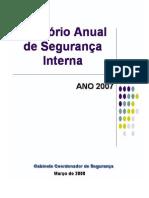 relatório seg interna 2007
