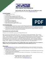 JHM 01E Trans Rebuild Kit Tools and Parts List