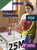 Programa Electoral Europeas 2014 de Alternativa Republicana