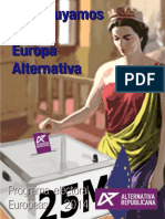 Programa Electoral Europeas 2014 de Alternativa Republicana