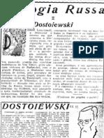 Trilogia russa. I, Dostoiewsky