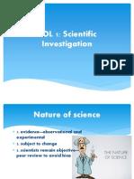 sol review scientific investigation
