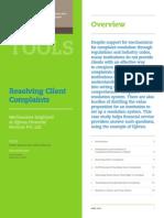 Resolving Client Complaints