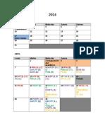 Calendario Academico Anuales y Primer Semestre 2014[1]