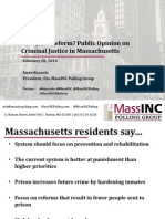 Ready for Reform? Public Opinion on Criminal Justice in Massachusetts