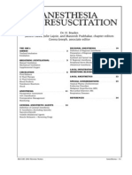 Anesthesia and Resuscitation