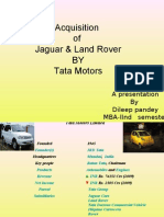 Acquisition of Jaguar & Land Rover by Tata Motors