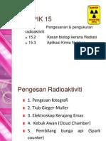 TOPIC 15 Pengesanan Dan Pengukuran Radioaktiviti