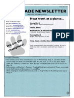 6th grade newsletter may 9 2014