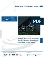 Best Practices Guide – Successful Energy Efficiency Technologies Integration in SME Hotels