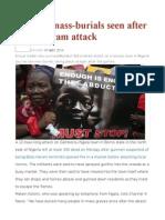 Nigeria Mass-burials Seen After Boko Haram Attack