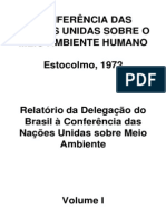 Relatório Comissão Brasileira a Conferencia de Estocolmo 1972