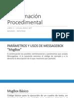 Programación Procedimental Unidad 3 MsgBox