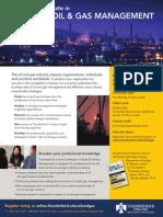 Thunderbird Online Certificate in Oil & Gas Management