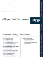 Lean Six Sigma Green Belt Curriculum