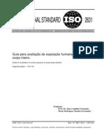 Norma Internacional ISO 2631 - Vibração