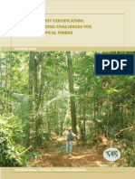 Certificacion Forestal Pending Challenges for Tropical Timber