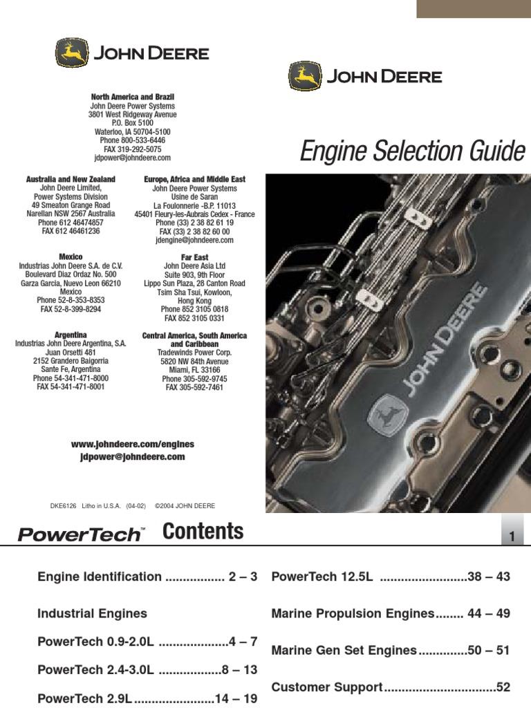 John Deere Powertech Engine Selection Guide | Transmission