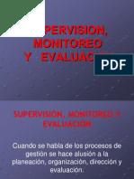 Supervision, Monitoreo y Evaluacion