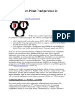 Wireless Access Point Configuration in PfSense