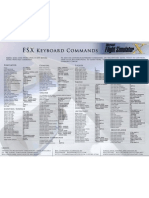 FSX Keyboard Commands Pamphlet