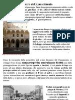 4 Storia Della Scenografia, Il Rinascimento Parte A
