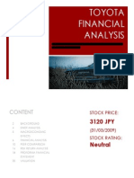 Sample Report.toyota SMU Finance for Law Financial Management Report on Intrinsic Values