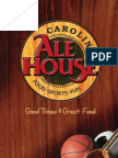Carolina Ale House Menu - North Carolina