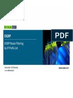 ROUTE 007 - EIGRP Route Filtering by Prefix List