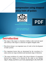 Radar pulse compression using stepped Frequency train of pulses