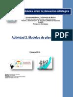 Actividad 2 Modelos de Planeación